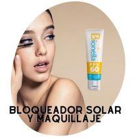 bloqueador solar y maquillaje